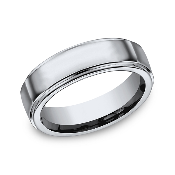 Titanium Comfort-Fit Design Wedding Band