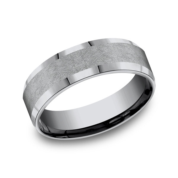 Grey Tantalum Comfort-fit wedding band