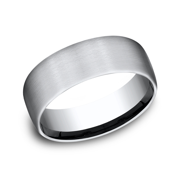 Cobalt Chrome Comfort-Fit Wedding Band