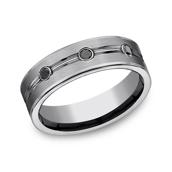 Tungsten Comfort-Fit Design Wedding Band