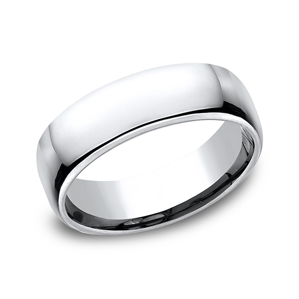 Cobalt European Comfort-Fit Design Wedding Band